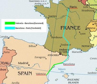 На новый скоростной поезд Барселона-Париж продали 23 тысячи билетов