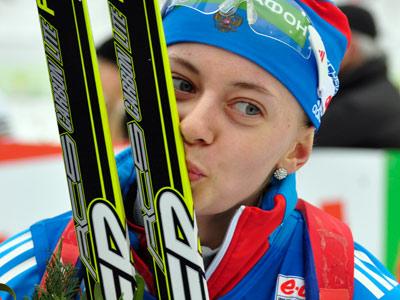 Биатлонистка Ольга Вилухина в спринте завоевала для России серебро
